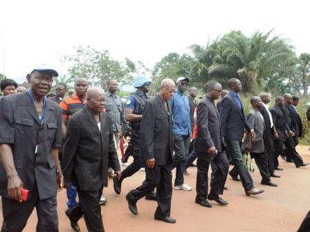 Les membres du CNT en marche /@Eric Ngaba