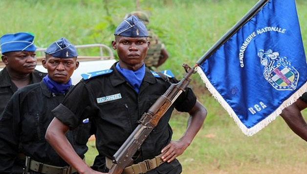 Les-Gendarmes-centrafricains-formés-par-la-Sangaris