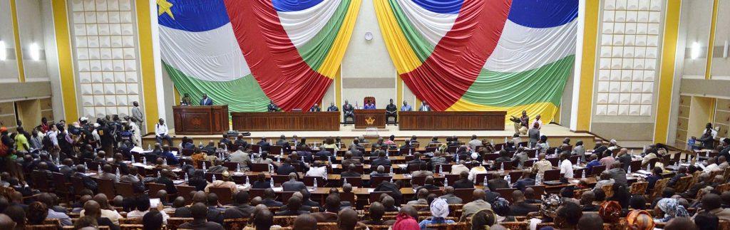 vue d'ensemble de l'hémicycle de l'Assemblée nationale centrafricaine