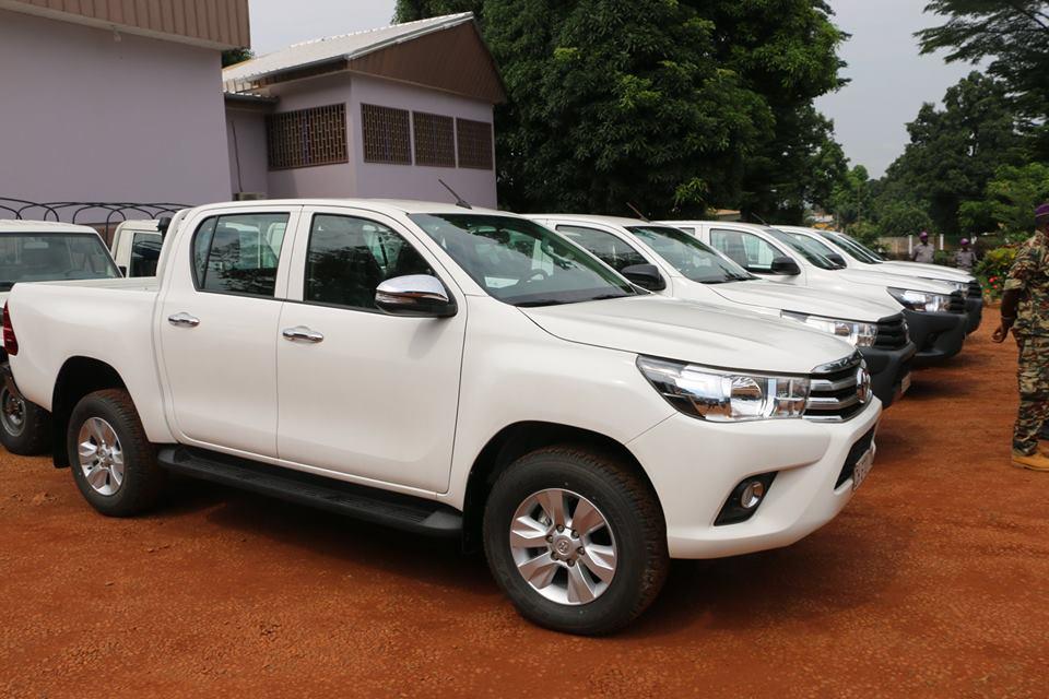 Centrafrique: le ministère des finances doté de 11 véhicules neufs