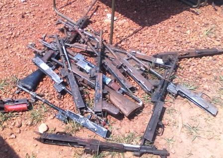 des armes stockées au camp Mpoko@Eric Ngaba