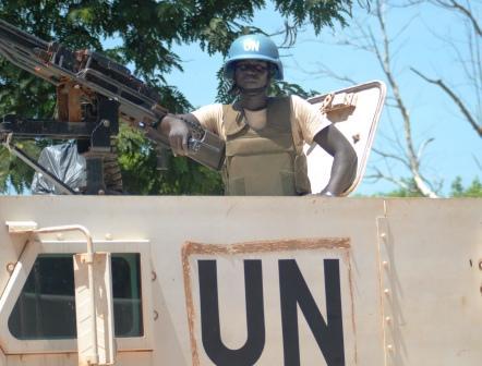 casques bleus camerounais à Bossangoa@Eric Ngaba