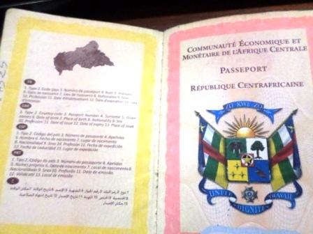 Passeport centrafricain@Eric Ngaba