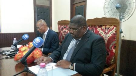 Le porte-parole du gouvernement et porte-parole de la Minusca@Eric NGABA