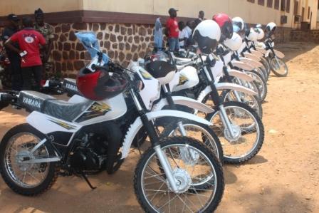 les motos octroyéesàEric Ngaba