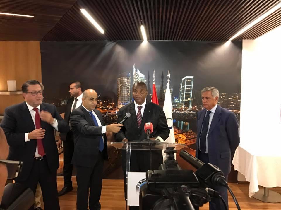 Le président Touadera à la chambre du commerce de Liban