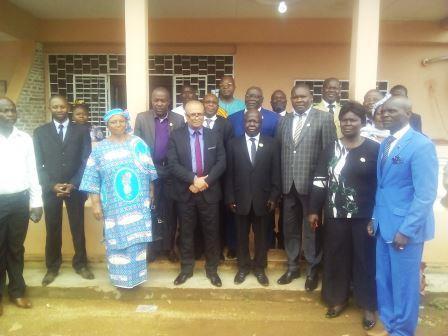 Le ministre de l'environnement Yvon Kamach et les députés@Fiacre Salabé
