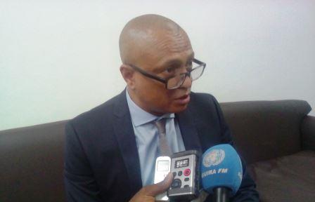 Le ministre de l'environnement, Thierry Kamach@Fiacre Salabé