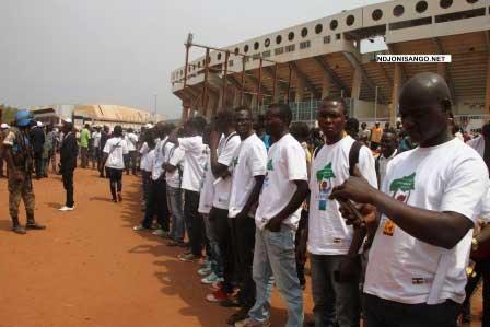Les leaders des organisations de la jeunesse centrafricaine@Eric NGABA