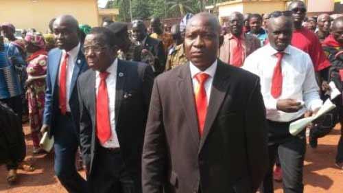 Les leaders du comité de soutien@Eric Ngaba