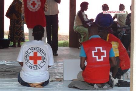 Les agents du CICR en séance de formtion à Bangui@Crédit photo Eric Ngaba