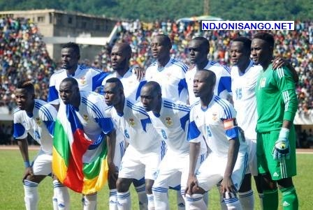 Les onze de l'équipe centrafricaine de football@Eric Ngaba