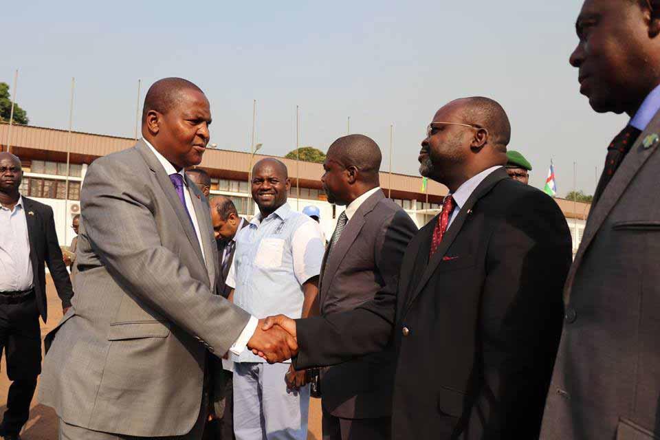 le président Touadera salue les responsables de l'Université de Bangui