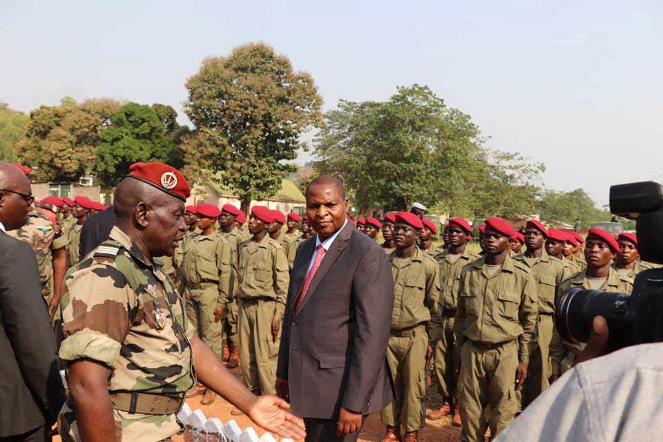 Sortie officielle d'une unité des FACA au camps Kassaï à Bangui