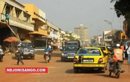 Une vue de la ville de Bangui en pleine circulation@Erick Ngaba
