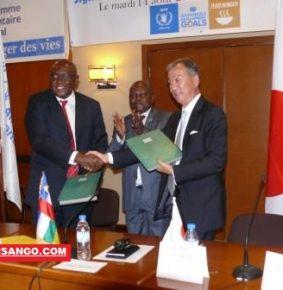 Centrafrique: 1.75 milliards de FCFA alloués au PAM par le Japon pour l'aide humanitaire