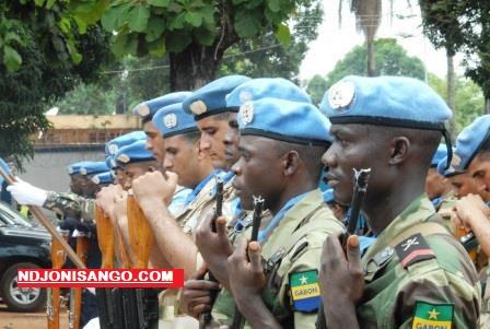 les casques bleus onusiens du Gabon à Bangui@Erick Ngaba