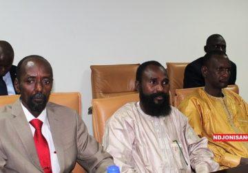 Les chefs rebelles Abakar Sabone, Mahamat Alkhatim et Sidiki Abbas aux pourparlers de Khartoum@Erick Ngaba