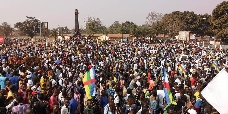 la mobilisation à Bangui contre l'embargo sur les armes@image diaspora