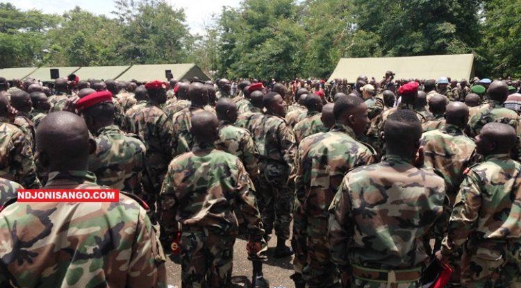 Les FACA en formation au camp Berengo@Erick Ngaba