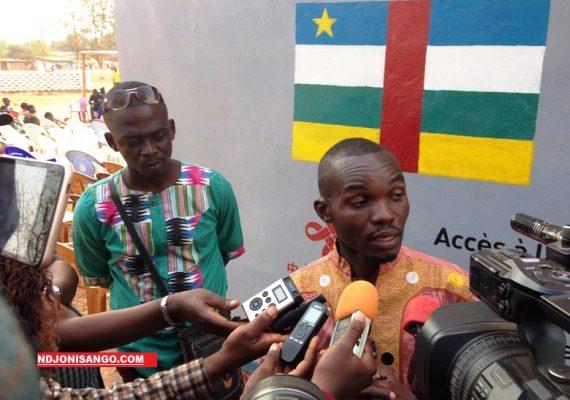 Stéphane Donatus Lokoua et Joël Moyeyegue Salebo, coordonnateur de l'Urgences panafricanistes de Centrafrique@image Erick Ngaba