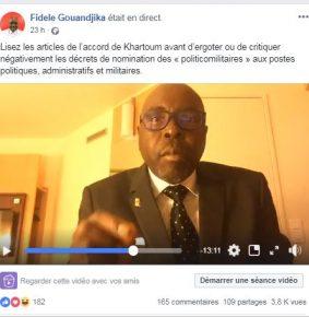 Centrafrique : La Présidence recrute sur facebook à travers Fidèle Gouandjika
