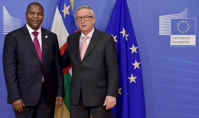 Le président centrafricain Faustin Archange Touadera à Bruxelles
