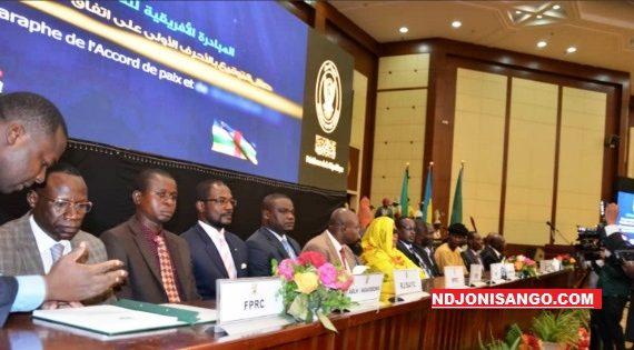 Paraphe de l'accord de paix à Khartoum