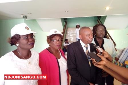 Les leaders de MONUCA et le représentant du Min affaires sociales@Erick Ngaba