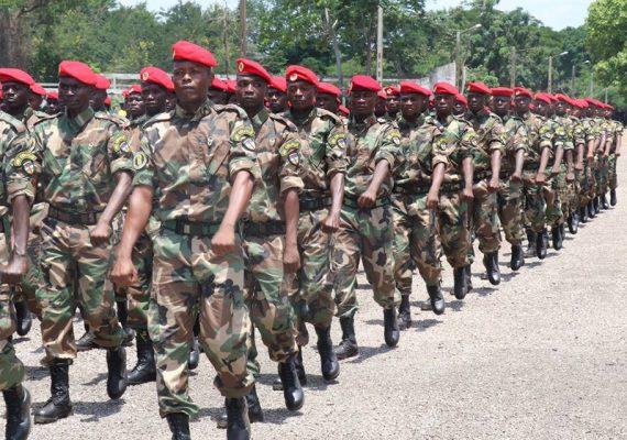 Les éléments des FACA formés par des instructeurs russes à Berengo en Centrafrique
