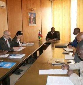 L'accord de Khartoum rétablit la RCA : la délégation UA, UE et ONU a rencontré Firmin Ngrebada