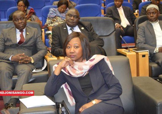 Sylvie Baipo-Temon, ministre centrafricaine des affaires étrangères lors des pourparlers de Khartoum@photo Erick Ngaba