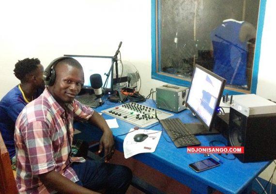 Vue d'un studio de radio Lego ti la Ouaka à Bambari@photo Erick Ngaba