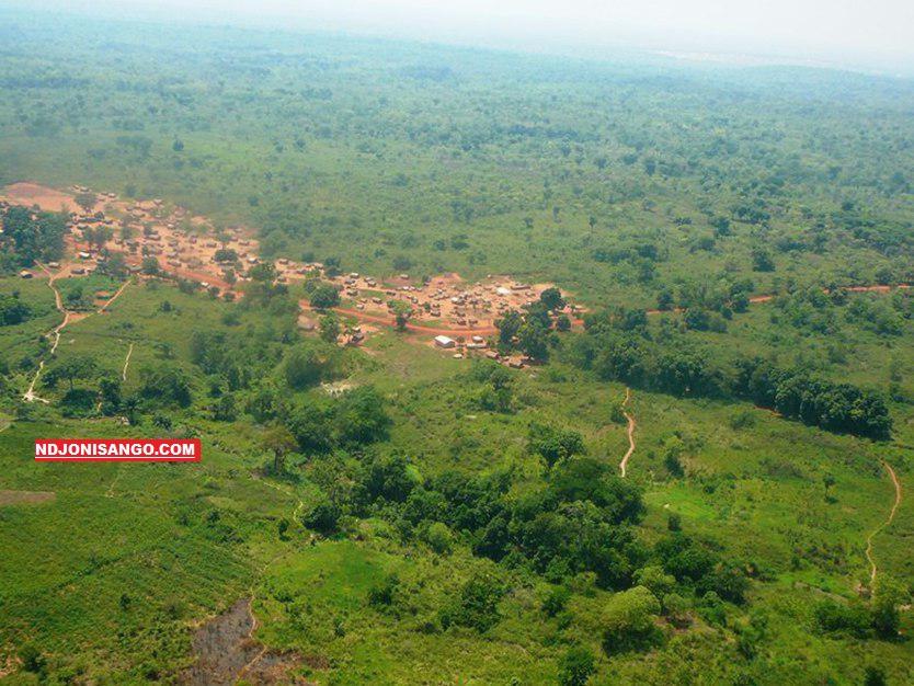 Vue aérienne de la ville de Bambari au centre de la Centrafrique@photo Erick Ngaba