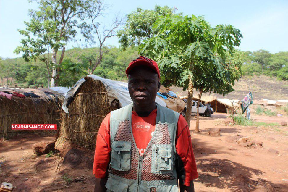 Jean Narcisse Kossi Kouzou, Rapporteur du maire de la commune de Dibichi à Ndachima sur le chantier minier de Krandja@photo Erick Ngaba