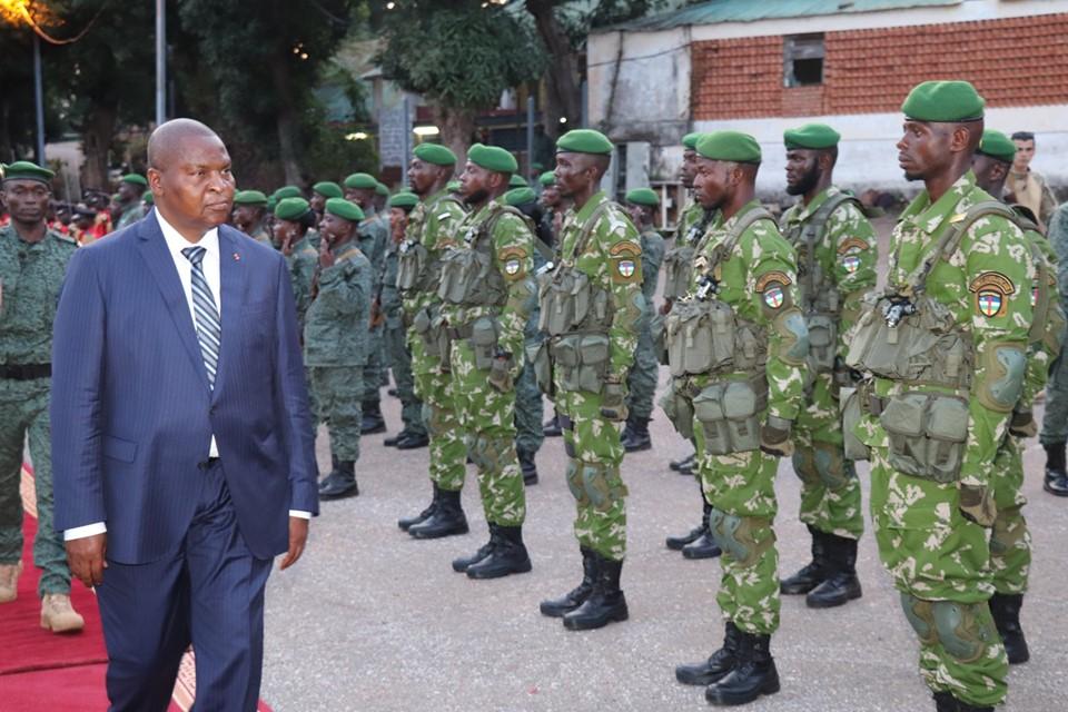 L'Unité spéciale Forces Armées Centrafricaines formées par des instructeurs russes au Camp de Roux à Bangui
