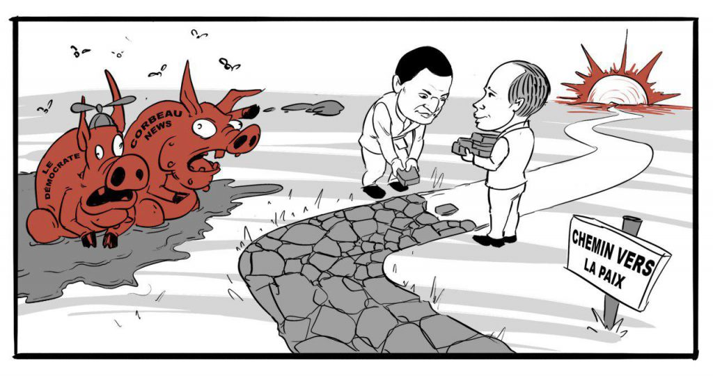 chemin de paix en Centrafrique vue de la caricature