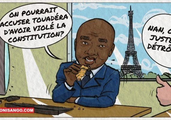 Karim Meckassoua en interview vu par la caricature