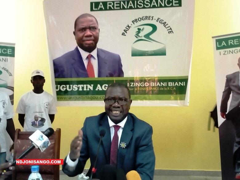 Augustin Agou, président du parti La Renaissance@photo Erick Ngaba