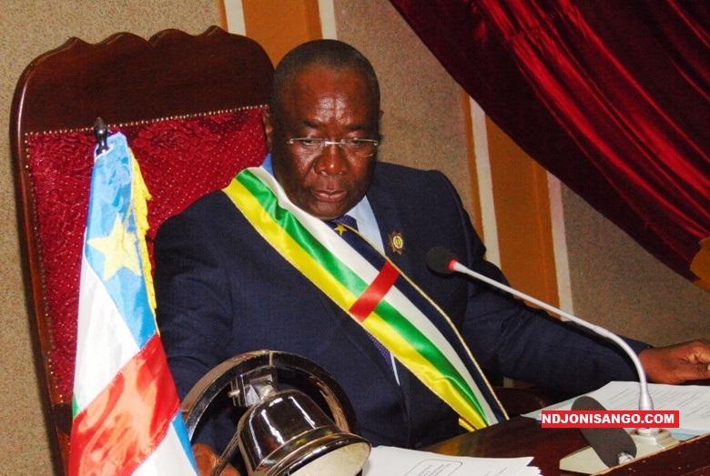 L'ancien président du parlement et opposant politique centrafricain, Abdou Karim Meckassoua@ photo Erick Ngaba