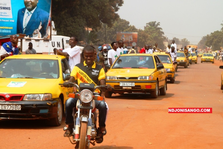 Circulation dans la ville de Bangui