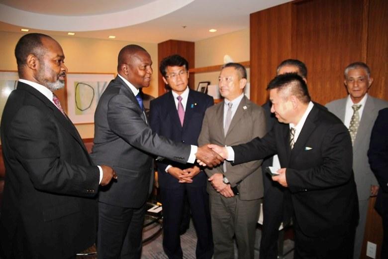 Le chef de l'Etat centrafricain, Faustin Archange Touadera reçu par les autorités japonaises à Tokyo