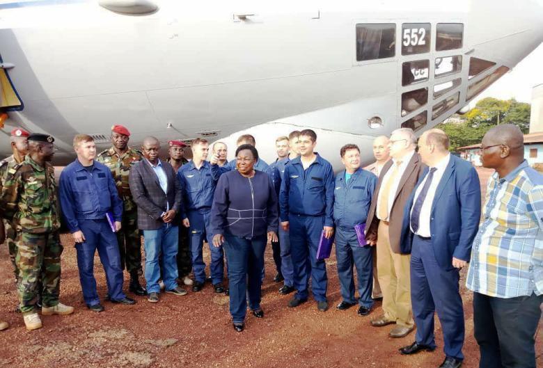 livraison d'armes russes au gouvernement centrafricain à Bangui