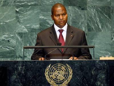 Le président centrafricain Faustin Archange Touadera à l'Assemblée Générale de l'ONU en 2018