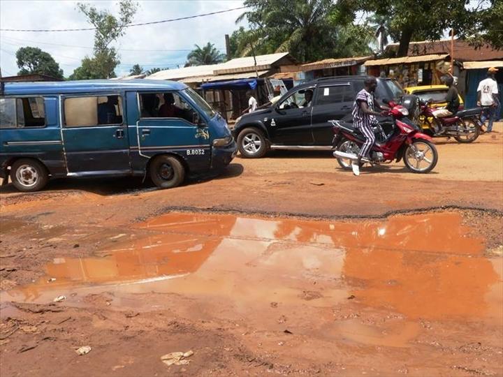 dégradation des routes à Bangui