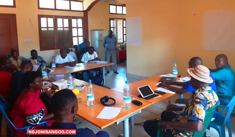 Les participants à l'atelier @photo Fiacre Salabé