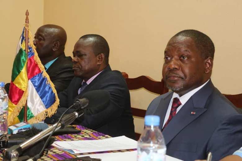 Le premier ministre Firmin Ngrebada lors du lancement des travaux du comité d'intégration@primature