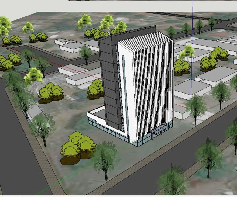 Plan de l'immeuble de l'hôtel des impots à Bangui@photo min. finances