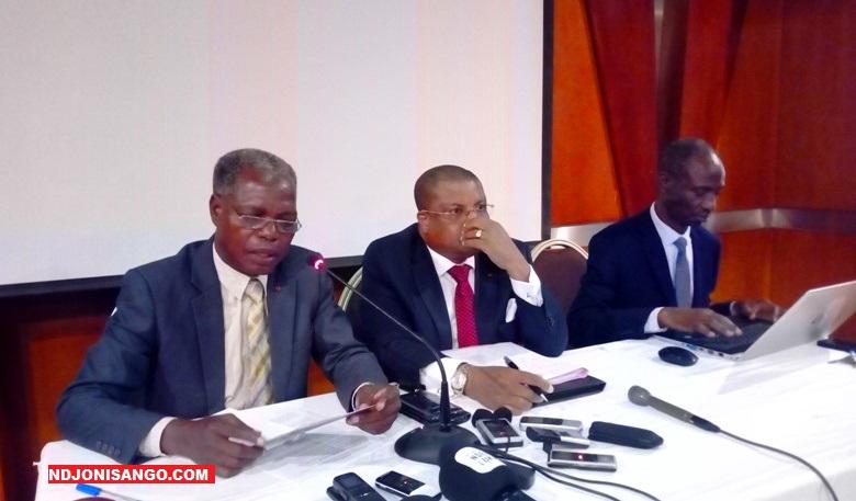 Collection des Avocats de l'ex président François Bozizé lors de la conférence de presse à Bangui@photo Erick Ngaba