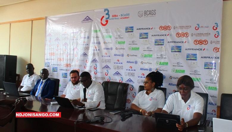 Equipe dirigeante du club Giba BCAGS Academy lors de l'AG à Bangui@ photo Erick Ngaba